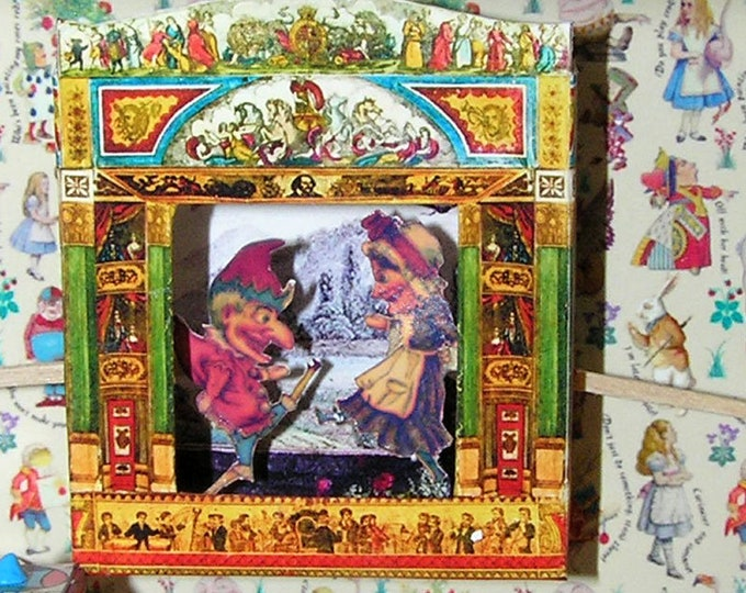 Kasper Theater, Paperminis, Bastelkit of paper in miniature for the Dollhouse, the doll house, Dollhouse Miniatures # 40008