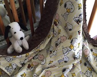 Charlie Brown/Snoopy minky blanket
