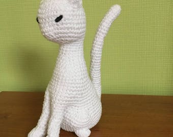 Toy plush cat hooked handmade