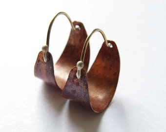 Small Copper Hoops