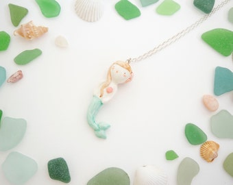 mermaid - porcelain jewellery ploudoll
