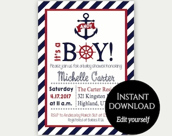Nautical baby shower etsy filmwisefo Images