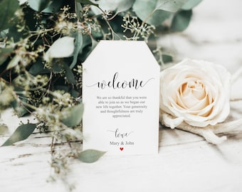 Welcome Tags, Welcome Wedding Tags, Wedding Favor Tags, Wedding tag, Wedding Welcome Tag, Welcome Bags For Wedding, Instant Download, 6021