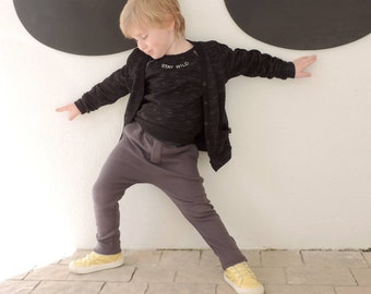 SALE Black Cardigan - Kids Cardigan - Baby Cardigan - Toddler Cardigan -  Hipster Kids Clothes - Size 18M to 9-10Y - by PetitWild