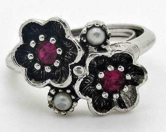 Vintage Avon Flower Duo Ring