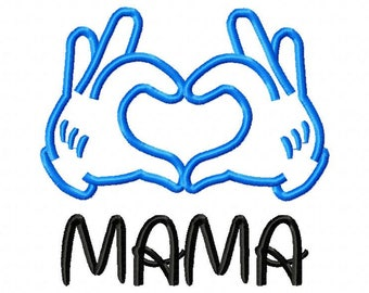 Love mama Applique Designs 8 Size Machine Embroidery Embroidery Designs Kid Embroidery  Pes - Instant Download