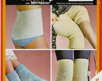 Instant PDF Digital Download ladies gents body belt knee warmers bedsocks knitting pattern (550)