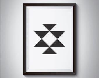 Scandinavian print, Black White Geometric art, Modern Print, Black Geometric Print, Abstract Geometric, Nordic Print, Minimalistic Print
