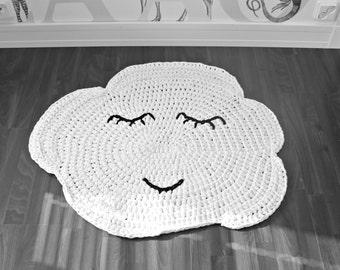 The Sleepy Cloud crochet nursery area rug