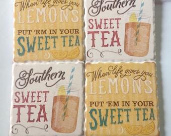 Sweet Tea Coaster Set