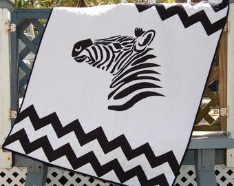 Handmade Baby Quilt, Baby Boy Quilt, Baby Girl Quilt, Zebra Baby Quilt, Jungle Baby Quilt, Modern baby Quilt