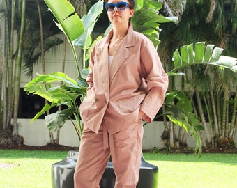 Pant Suit, Cotton Pant Suit, Straight Fit Pant Suit