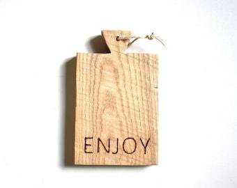 Wooden engraved cutting board ENJOY