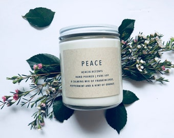 Peace | Spring Collection | Pure Soy Candle | Jar Candle | Essential Oil Candle