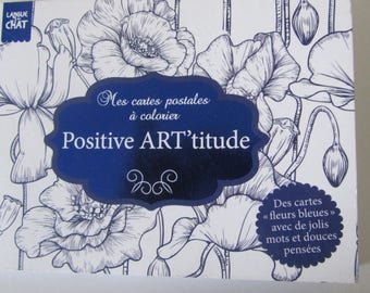 Block of postcards to color and send - Positive Art' gratitude