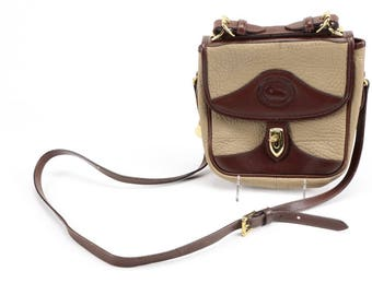 Dooney & Bourke Convertible Crossbody 2 Tone All Weather Leather Handbag Shoulder Bag Purse
