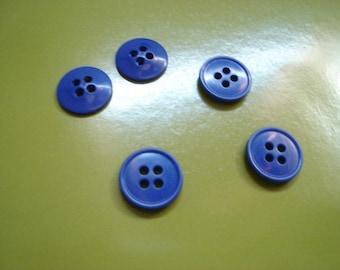 medium blue rim plastic button