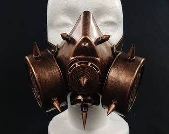 Bronze Steampunk Styled Gas Mask | Venetian Cosplay Mardi Gras Masquerade Mask