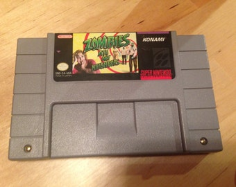 Zombies Ate My Neighbors | Authentic Super Nintendo Game Cartridge | SNES | Video Game | Collectible