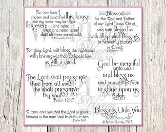 Blessings Scripture Digital Word Art--KJV Scripture Quotes for Cards and Photo Overlays--Scrapbooking