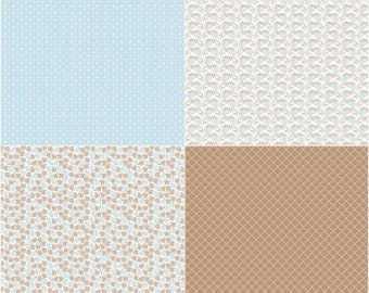 Riley Blake Designer Sew Cherry 2-Aqua Quilt Panel Fabric by the Yard