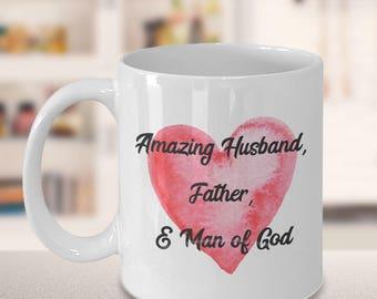 Husand, Father, & Man of God mug