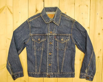 "Vintage 1960's/70's LEVIS ""BIG E"" Type III Trucker Denim Jean Jacket / Retro Collectible Rare"