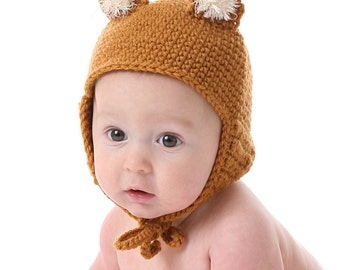 Fox Hat Crochet Pattern -  Instant Download