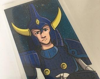 Rowen of Strata, Ronin Warriors, Samurai Troopers, Laminated Bookmark or Mini Print