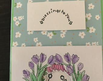 One of a kind blessings notecard