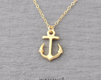 Anchor necklace, gold filled necklace, nautical, minimal, everyday jewelry.14k gold filled, best friend gift, sister gift, bridesmaid gift