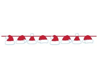 Santa Hat Banner - Christmas Banner - Santa Decorations - Christmas Decorations - Santa Garland - Christmas Party Banner - Holiday Party