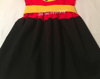 The Incredibles Custom Boutique Clothing super hero Sassy Girl Story time books bedtime books costume dress up