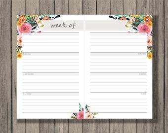 Weekly calendar, blank week sheets, printable calendar, Confetti design, family planner, calendar. 2016 Calendar. Week schedule.