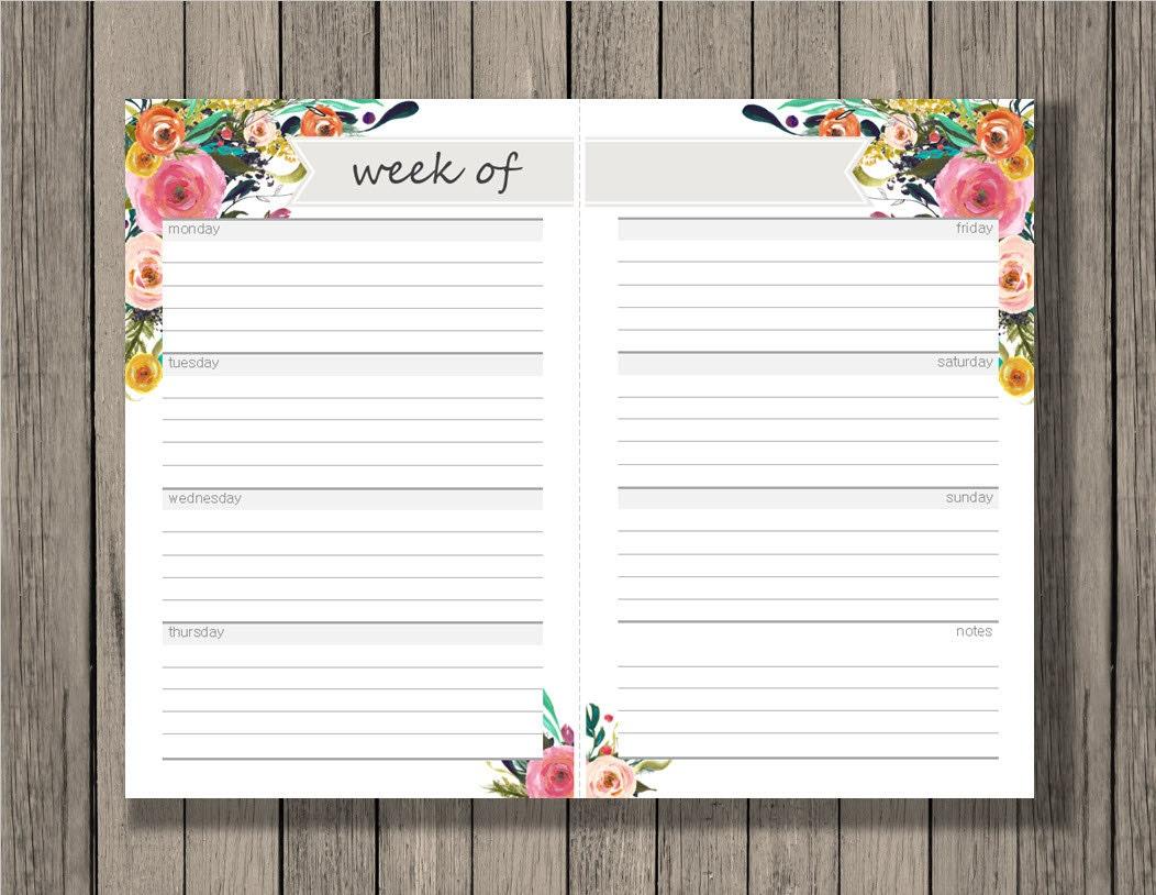 weekly schedule blank