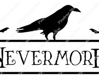 Nevermore and Raven ~ Sublimation Artwork for Mugs / Digital Download Only