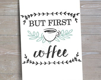 Coffee Bar Sign, Version 2 // INSTANT DOWNLOAD // Coffee Party // Printable, Digital