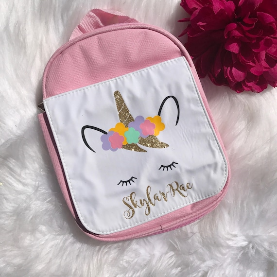 Personalised Unicorn Lunch Bag Packed Lunch Bag School