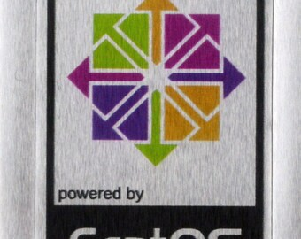 Aluminum CentOS Linux Metal Decal Sticker Computer PC Laptop Badge