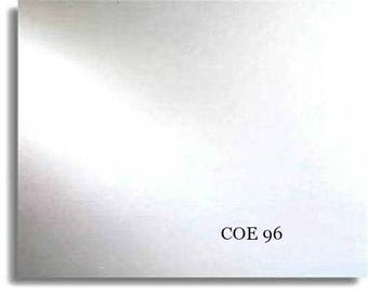 8x10 3mm Crystal Clear Spectrum COE 96 Fusible Glass Sheet Fusing Supplies