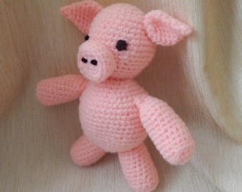 Crocheted Piglet. Crocheted toy. Crocheted toy for babies. A great gift for babies. Piglet - crocheted, soft, stuffed toy for children.