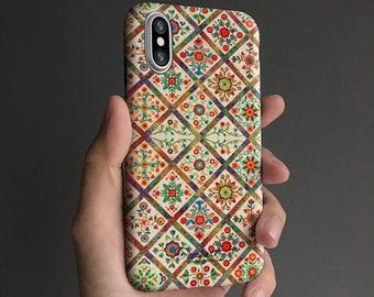 Floral iPhone 8 case, iPhone X case iPhone 7 case, iPhone 6s case, iPhone 6 plus case,   tough case, antique vintage T342