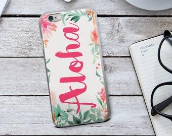 Aloha Iphone Case - Hot Pink Case - Aloha Phone Case - Hawaiian Iphone Case - Hawaii - Hawaii Iphone Case - Family Vacation Phone Case