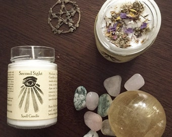 Second sight magic spell ritual candle
