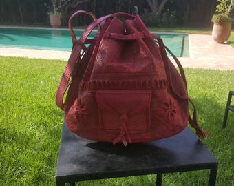 shoulder  leather bucket bags ,moroccan handcrafted leather  bucket bags,  leather bags