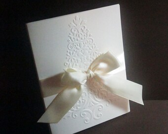 Christmas Cards, Christmas Card Set, Embossed Christmas Tree Cards, Holiday Card Set, Boxed Christmas Card Sets, Merry Christmas Card Sets