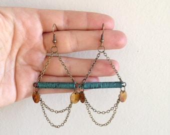 Painted Patina Sway Earrings