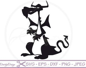 Dragon SVG, Dragon pdf, eps files, cricut Dragon, Dragon svg file, Clip Art Dragon, Dragon cut file, silhouette file DXF Dragon