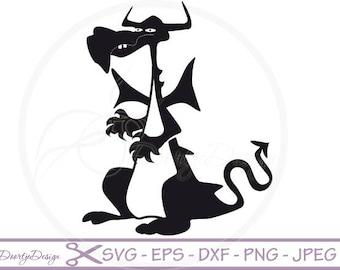 Dragon SVG, Dragon pdf, eps files, cricut Dragon, Dragon svg file, Clip Art Dragon, Dragon cut file, silhouette file DXF Dragon