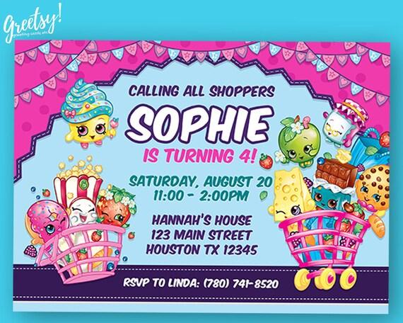 Shopkins Invitation Shopkins Birthday Shopkins Party